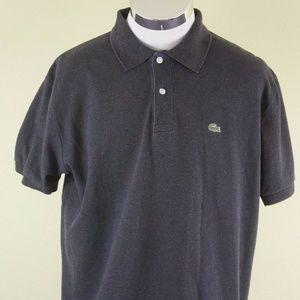 LACOSTE Charcoal Gray Short Sleeve Polo Shirt Sz 7